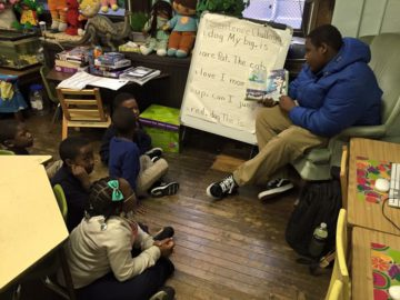 Men of Mitchell mentor students