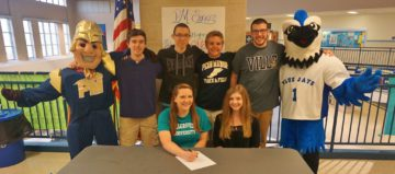 Students at Penn Manor participate in signing day.