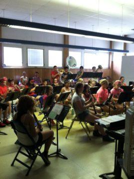 Music Students Rehearsing at Summer Band Camp
