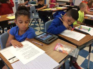 image Fourth-grade students at Linntown Intermediate School