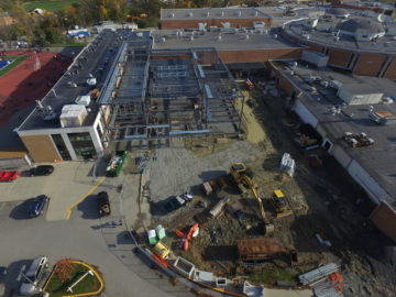 Chartiers Valley Middle School students use drones to document construction project