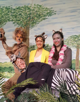 picture students dressed as Madagascar animal characters