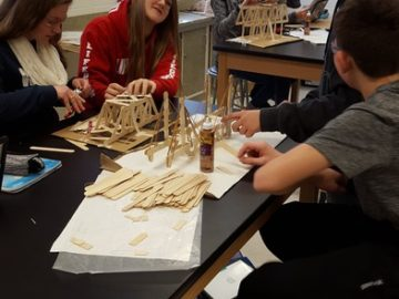 Oley Valley Middle School students build bridges to success in STEM