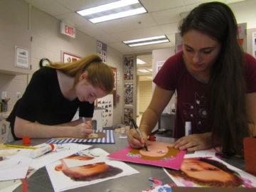 Art students create portraits for Jordanian orphans