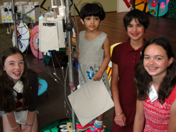 Colonial middle schoolers create 'lily pads' for children's hospital