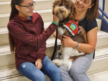 Manor Middle Schools adds a service dog to help students feel more comfortable in school