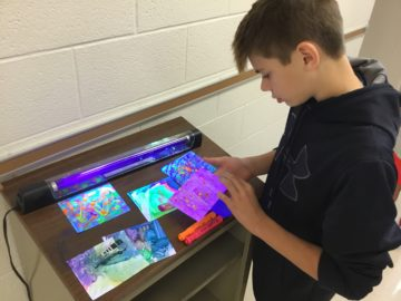 Students participate in unique art experiences through mobile art museum