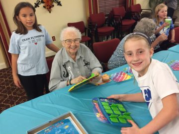 Plymouth Elementary Spirit Team visits local retirement community