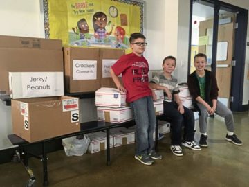Kiski Area East Primary School gathers treats to send to troops in Afghanistan