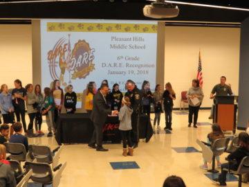 Pleasant Hills sixth-grade students recognized for DARE program