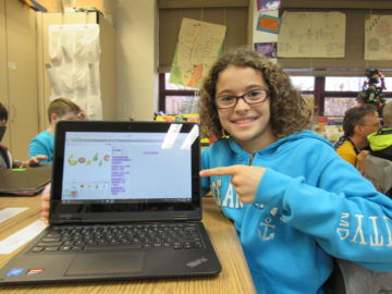 Elementary students learn to be Google Doodle coders