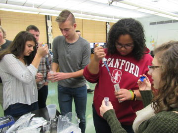 College-level laboratory experiences at intermediate high school