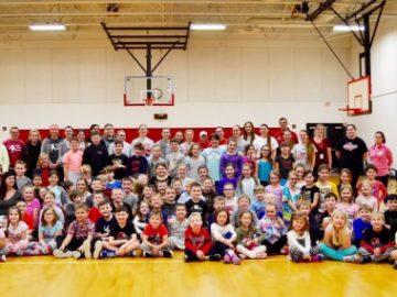 Elementary students learn positive behaviors through physical activity