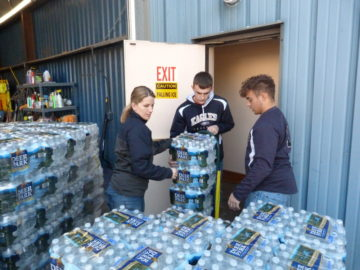 BEA students, staff help distribute water to Mountaintop Region residents
