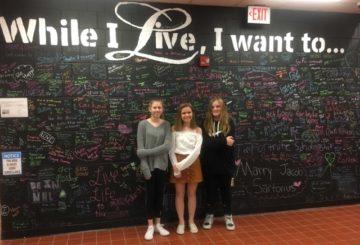 Seneca Valley Middle School eighth graders (L-R) Emma Kovarik, Destiny Inks,and Alyssa Wible.