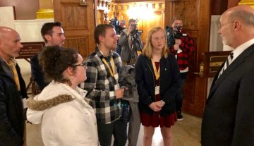 Quakertown Community students learn about political process at PA Capitol