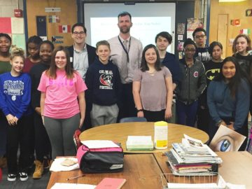 Guest speaker shares value of mentors to Colonial Middle School AVID class