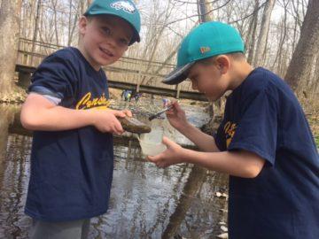 Conshohocken Elementary first graders explore wetlands at Peace Valley Nature Center