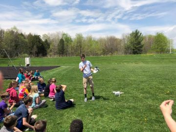 Students learn to pilot drones