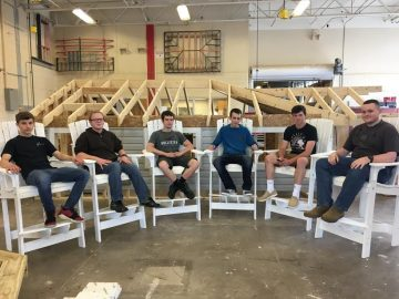 Carpentry students donate time and skill to municipal project