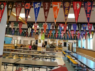 Students inspired by college pennant project