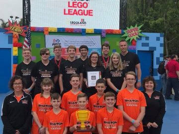 Sharon robotics team earns fire hose patent for competition design