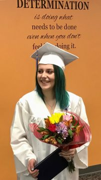 Mia Nevells is the first graduate at a new 8-12 school in the Quakertown Community School District.