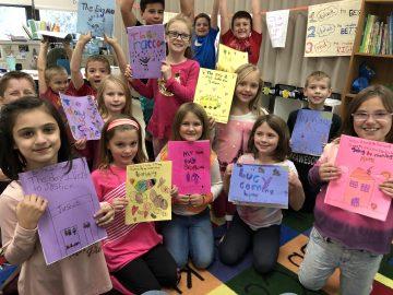 Second-graders publish personal narratives