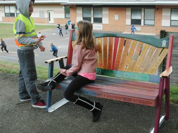 New Buddy Benches help Whitemarsh Elementary students make friends