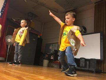 Benner kindergarten students participate in fashion show as end-of-lesson project about ABCs