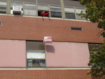 High school physics students test their knowledge in Pumpkin Drop