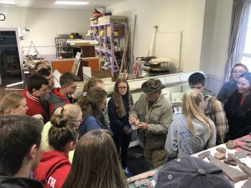 AP bio students visit site of first-discovered tetrapod