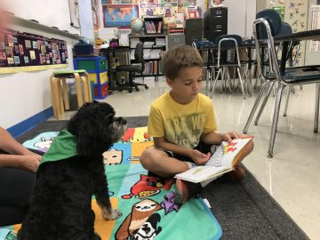 Students get friendly PAWS for reading time