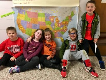 Students connect with classmates in Argentina through global literacy project
