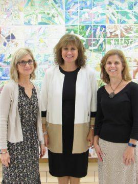(L-R): Kathy Novakovich, CVE Reading Specialist; DeeAnn Graham, CVE Principal; and Donna Cavanaugh, CVE Reading Specialist.