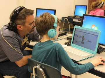 Elementary and middle school families engage in Keystone Oaks' inaugural 'Night of Code'