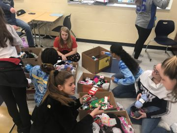 Ringgold Middle School students 'sock-tober' collections help local needy