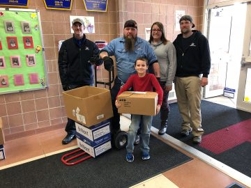 School donates more than 5,500 pounds of food