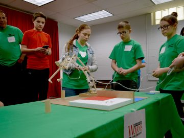 Young engineers design devices using fluid power