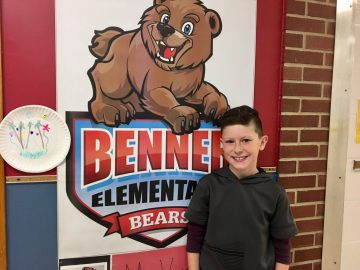 Benner fourth-grader holds donation drive