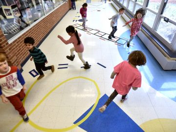 Sensory walkway gives elementary students a break