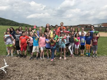 AP physics class works with third-graders to build, launch rockets