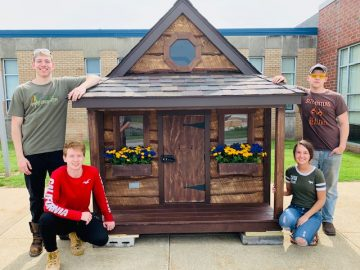 CACTC carpentry seniors hold public auction for custom playhouses