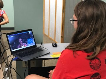Students involved in the BAMS Summer Book Club virtually meet author