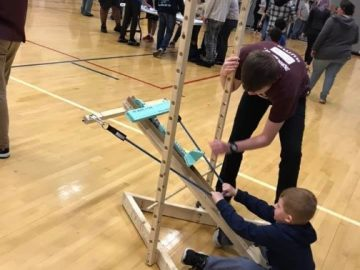 Students enjoy slingshots, robots, and virtual reality at STEM Showcase