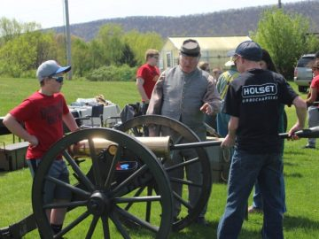 Students engage in hands-on learning of Civil War