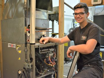 A second option leads student to a future career in HVAC/R