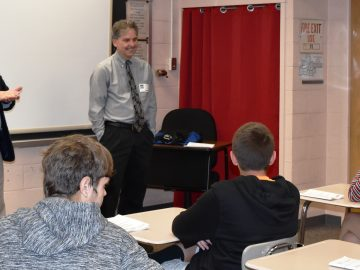 Business leaders address Oral Communications class