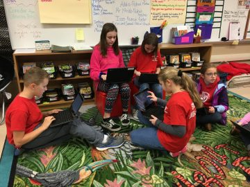 Elementary student ambassadors oversee community service projects