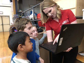 Meteorologist visits Whitemarsh Elementary's second grade